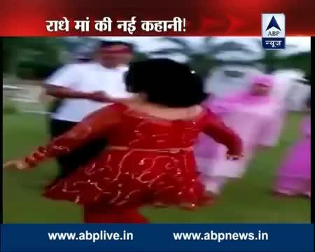 Radhe Maa dancing on 'Ek tere bharose pe….'