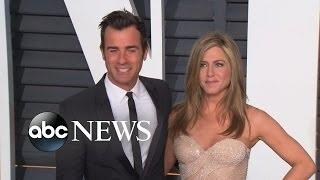 Jennifer Aniston and Justin Theroux Get Married, A 'Jumanji' Remake and Much More in Pop News