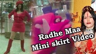 Radhe Maa Hot Video in Red Mini Skirt