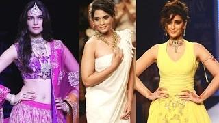 Kriti Sanon, Ileana D'Cruz, Richa Chadda Hot At IIJW Fashion Show