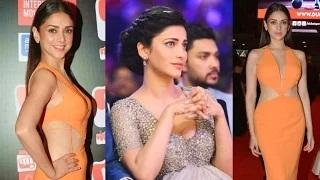 Shruti Hassan & Aditi Rao Hydari Hot At SIIMA Awards 2015