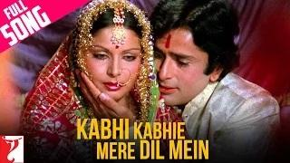 Kabhi Kabhie Mere Dil Mein - (Female Full Song) Kabhi Kabhie [Old is Gold]