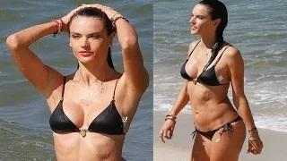 Alessandra Ambrossio Flaunts Her Hot Bikini Body In Brazil