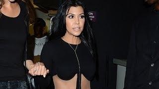 Kourtney Kardashian Stuns in Revealing Black Jumpsuit at Kylie Jenners 18th Birthday Party