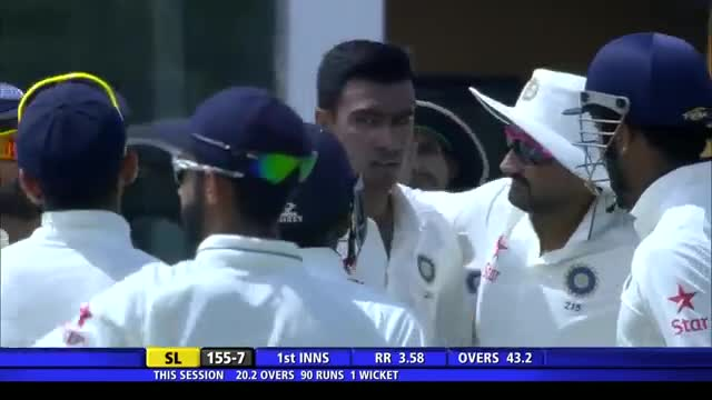 SL vs IND: 1st Test 2015, Day 1 Wickets Highlights