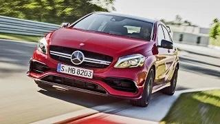 2016 Mercedes-AMG A 45 AMG Exclusive on racetrack