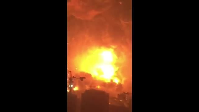 Massive Chinese Explosion Caught on Video