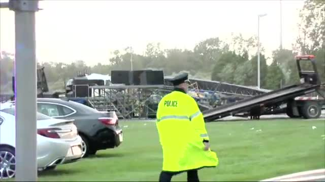 High Winds Cause Mich. Stage Collapse