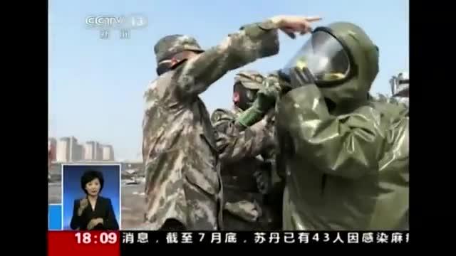 Crews Sample Soil at Tianjin Blast Site