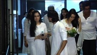 Bollywood Celebs At Shraddha Kapoor's Grandfather's Prayer Meet