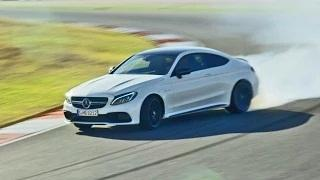 2016 Mercedes C 63 S AMG Coupe on Racetrack - Good Exhaust Sound