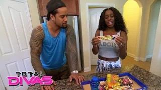 Naomi stocks up on treats for the kids' visit: WWE Total Divas Bonus Clip: August 18, 2015