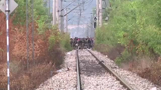 Migrants Trapped On Macedonian Border