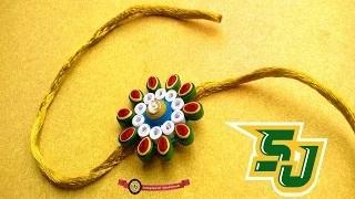 How to make Raksha Bandhan Special 'Rakhi' using Paper Art Quilling