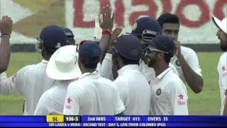 Ravichandran Ashwin gets 12th test five wicket haul (SL vs IND 2015, 2nd Test Day 5)