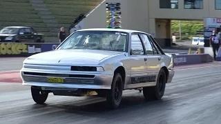MAATOUKS RACING RB30 POWERED QUEEN ST MONARO 7.58 @ 185 SYDNEY DRAGWAY