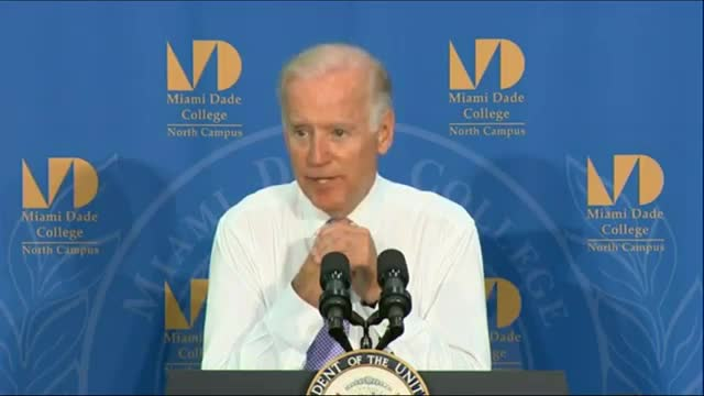 Biden Promotes 14 Yrs. Of Free Education For All