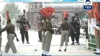 Beating Retreat Ceremony held at Wagah Border (Full Video)