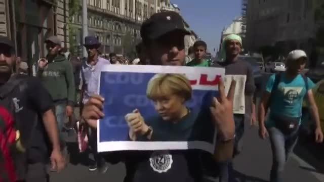Asylum-Seekers Start Walk to Vienna