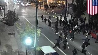 Anarchist attack: Olympia police protesters assault Air Force officer with bat and mace