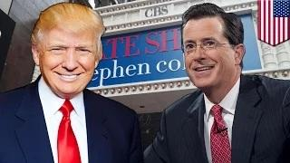 Donald Trump on Late Show with Stephen Colbert: Trump says yes to Colbert