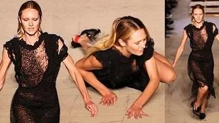 Candice Swanepoel's EPIC Fall @ 'New York Fashion Week'