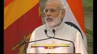 PM Modi's speech at the Joint Press Statement with Sri Lankan PM Ranil Wikremasinghe in New Delhi