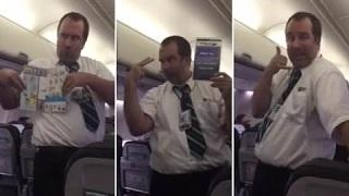 World is this the Most Entertaining Flight Attendant Ever