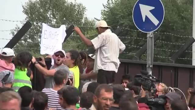 Migrants Protest Hungary's Border Closure