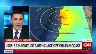 Earthquake : A Powerful 8.3 Magnitude Earthquake strikes off the Coast of Chile