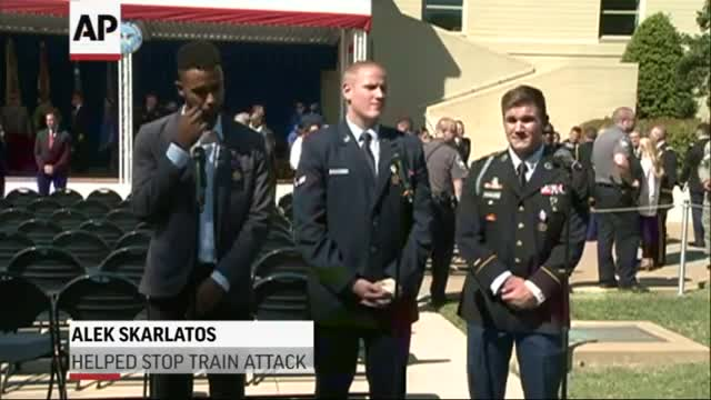 Pentagon Honors 3 Americans Who Stopped Train Attack