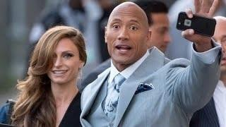Dwayne Johnson And Lauren Hashian 2013