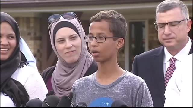 Ahmed Mohamed talks about being arrested at Irving school over clock