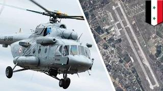 Russia in Syria: Russian attack helicopters sighted at Syrian airbase, says US