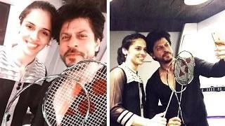 Shahrukh Khan Meets Saina Nehwal | 'Dilwale' Sets
