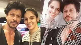 Shahrukh Khan And Saina Nehwal Cute Selfies