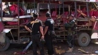 Aftermath of Fatal Bus Blast in Philippines