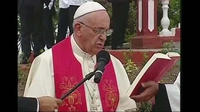 Pope Francis Blesses Cuba's 4th Largest City