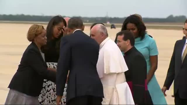Pope Francis Lands in US, Starts DC Visit