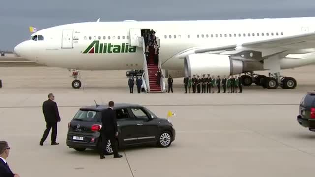 Pope Francis Makes His Way into DC in Fiat