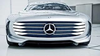 Mercedes-Benz 'Concept IAA' (Intelligence Aerodynamic Automobile) Footage