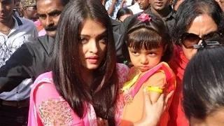 Aishwarya Rai & Daughter Aaradhya Visits Siddhivinayak Temple