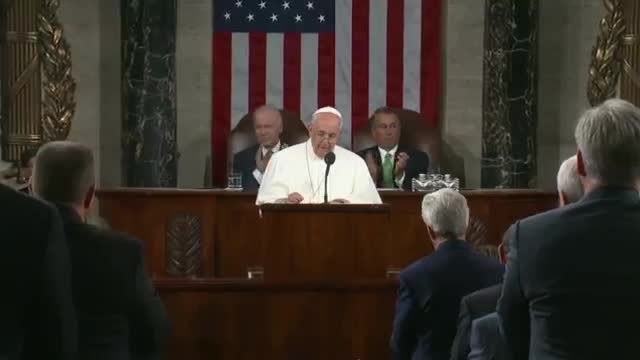 Pope Francis addresses U.S. Congress