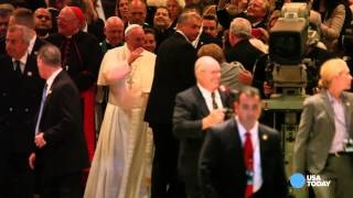 Pope Francis at St. Patrick's Cathedral in New York City
