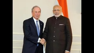 PM Modi meets Former Mayor of New York City, Mike Bloomberg in New York