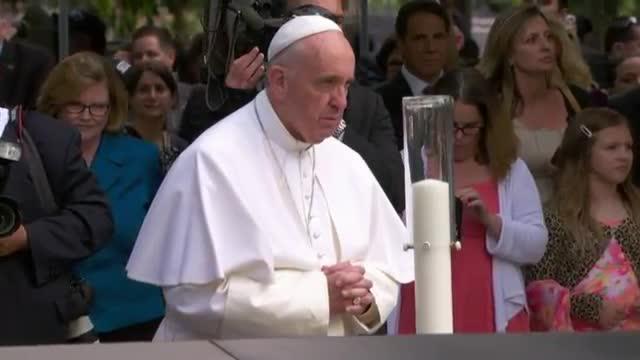 Pope Arrives at Ground Zero