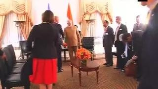 Sweden PM Stefan Lofven calls on PM Modi in New York