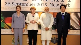 PM Modi with Leaders of other G-4 Nations ahead of the Summit in New York