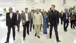 PM Modi meets CEO of Tesla Motors, Elon Musk in San Jose, California