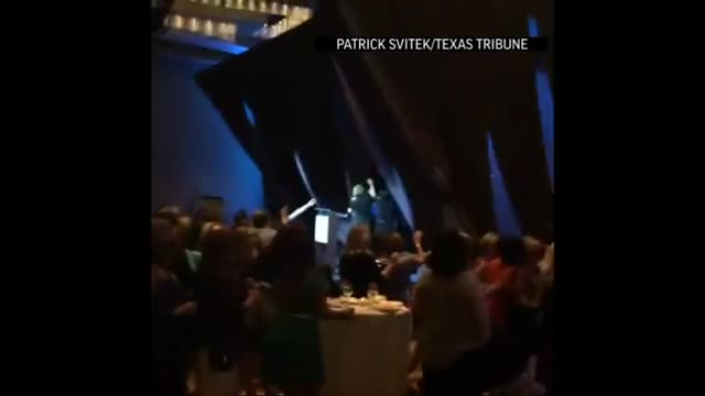 Fiorina Stage Backdrop Collapses On Her At Event